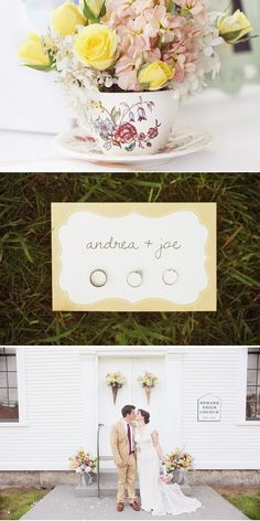 love the middle picture of the names with rings!
