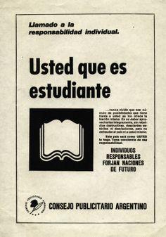 """""""Llamado a la responsabilidad individual 5""""-1970"""