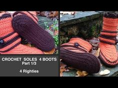 Crochet SOLES 4 BOOTS Part 1/3 - more boot/slipper videos 4 Righties here: https://www.youtube.com/playlist?list=PLKziL--y2iAUOl0xEUVkxzs49mRdp9gNo and 4 Lefties here: https://www.youtube.com/playlist?list=PLKziL--y2iAVfo71ZzPHIitq0N6V4Oqx5