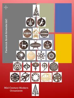 Mid Century Modern Ornament Tree