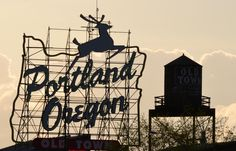Portland Old Town Sign / Dimensional Metal Type
