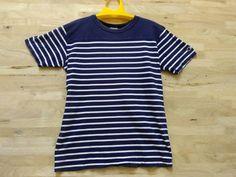 Vintage 90s Champion Products Basketball Stripes Striped Grunge Kurt Cobain Punk Rock Medium size T Shirt by ArenaVintage