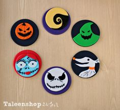Nightmare before christmas edible cupcake toppers by Taleenshop, $26.99
