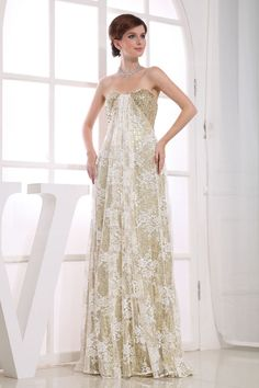 Shiny Fully Sequins Lace Overlay Dress