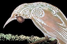 Aroha mai, aroha atu, Our World - Community Bird Artwork, Artwork Prints, Fine Art Prints, Art Maori, Maori Patterns, Maori Designs, Tiki Art, New Zealand Art, Nz Art