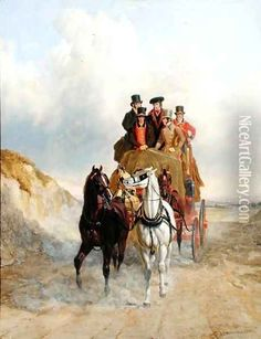The Royal Mail Coach on the Road, 1841 - John Frederick Herring Snr