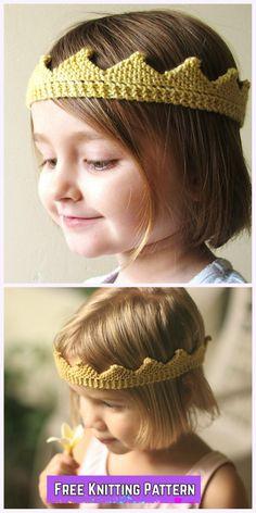 Knit Circlet Crown Free Knitting Pattern
