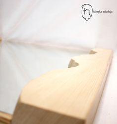 River mirror,  Name: Vistula Material: pine wood Dimentions: 78x75x4cm