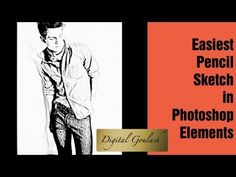 Learn Photoshop Elements - Create Pencil Sketch from Photo
