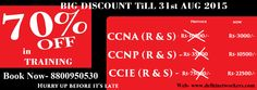 Delhi Networkers Academy Institute Offering Latest Offers-  #CCNA(R&S), #CCNP(R&S) Networking Courses 70% Off*  CCNA EXAM-  16500/-*  CCNA TR  200-120  ROUTING & SWITCHING  Call us -8800950530