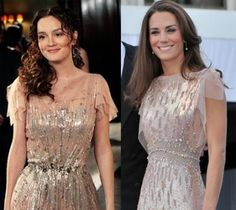 It was a weird case of life imitating art when Kate Middleton stepped out in the same sparkling Jenny Packham dress that Blair Waldorf wore on Gossip Girl when she was about to become a fake princess. They both look great—and … Style Blair Waldorf, Blair Waldorf Dress, Blair Waldorf Outfits, Blair Waldorf Gossip Girl, Gossip Girl Gowns, Mode Gossip Girl, Gossip Girl Outfits, Gossip Girl Fashion, Trend Fashion