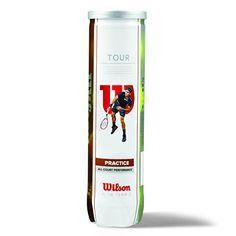 Wilson Tour Practice 4Tball - Lata para pelotas de tenis, color amarillo, talla única #pelotas #tenis Para ver mas visita este enlace https://cadaviernes.com/ofertas-de-pelotas-de-tenis/