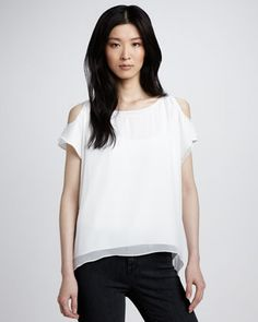 Open-Shoulder Top by Alice + Olivia at Neiman Marcus.