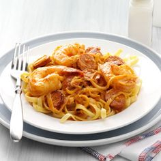 Shrimp Scampi Fettuccine with Andouille Butter