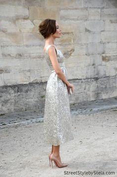 Ulyana being stunning in silver. Paris. #UlyanaSergeenko