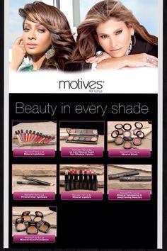 Uno para cada tipo y tono de piel! El maquillaje perfecto...sólo con Motives!  Encuéntralo en:  www.shop.com/hablahispana