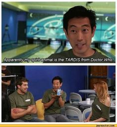 Your spirit animal is the TARDIS from Doctor Who