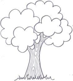 Teacher's guide for special activities Art Drawings For Kids, Drawing For Kids, Easy Drawings, Art For Kids, Tree Coloring Page, Easy Coloring Pages, Coloring Books, Applique Templates, Applique Patterns