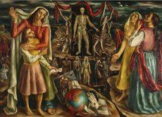 "| Raquel Forner | ""El drama"" | 1942 | Óleo sobre tela | 126 x 174 cm. - Marco: 158,5 x 208.5 cm. | Inv. 6401 | http://www.mnba.gob.ar/coleccion/obra/6401 |"