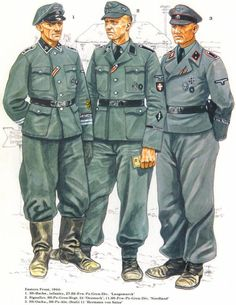 WaffenSS Officers uniforms By ludwig beilschmdt by on DeviantArt Military Insignia, Military Art, Military History, Ww2 Uniforms, German Uniforms, Military Uniforms, German Soldiers Ww2, German Army, Luftwaffe