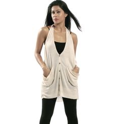 7 FOR ALL MANKIND - LINEN MARLED SWEATER VEST  Cream waist coat. Wear over dark coloured sleeveless tops for a casual day out with your friends. Looks best when worn with a white tee and dark blue skinny jeans. Pull up your tresses in a ponytail and let the outfit work its charm. www.brandsndeals.com