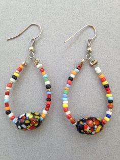 Beaded Earring by CatterflyStudios on Etsy