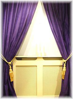 Stunning Opulent Regal Purple Velvet Curtains