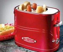 Retro Pop-Up Hot Dog Toaster ...this looks like the tool a chicagoan would just love...ok new yorkers too..