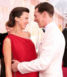 Benedict Cumberbatch and Sophie Hunter | 10 Couples Who Looked Completely In Love At The Oscars