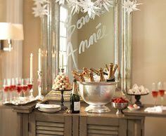 New Year's Eve champagne bar.