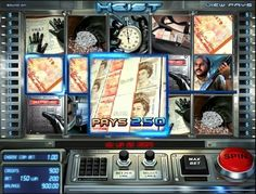 Play the 3D video slot game Heist totally free, at 1OnlineCasino.com