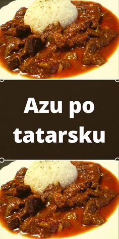 Azu po tatarsku Pos, Stir Fry, Chili, Fries, Beef, Cooking, Recipes, Meat, Kitchen