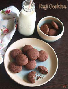 Ragi cookies recipe - Eggless fingermillet cookies recipe(without oven) Cookie Recipes Without Eggs, Eggless Cookie Recipes, Millet Recipes, Quick Healthy Snacks, Cookie Tray, Diwali, Food Print, Easy Meals, Tasty