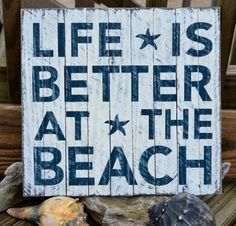 Beach Decor, Wood Sign, Beach Art, Coastal Decor, Beach Theme, Assembled Dune Fencing - Life Is Better At The Beach