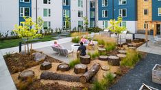 Shapiro Didway Courtyard Design for REACH CDC 124th & Ash Kids Play Equipment, Raised Garden Planters, Rainwater Harvesting System, Courtyard Design, Walking Paths, Bike Parking, Affordable Housing, The Locals, Sustainability