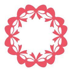 Silhouette Design Store: bow wreath frame