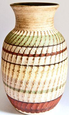 Vintage Large urn West German Vase  Dumler & by LavishVintageShop