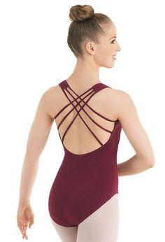 Cotton V-Neck Strappy Leotard   Dancewear Solutions