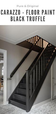 Floor paint Carazzo Floor paint - Very strong floor paint Carazzo in the dark color Black Truffle. The Carazzo is water-based, so env -