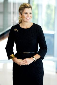 Queen Màxima of the Netherlands, who can make a simple ponytail look ultra sophisticated