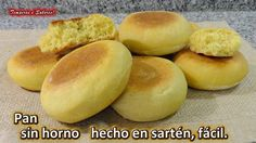PAN SIN HORNO HECHO EN SARTÉN, fácil y delicioso Pan Dulce, Pan Bread, Bread Baking, Lebanese Recipes, Mexican Food Recipes, Pork Belly Slices, Ultimate Grilled Cheese, Quirky Cooking, Homemade Donuts