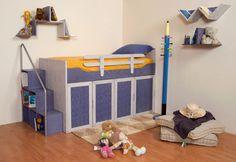 """Κουκέτα """"Ιθάκη"""" Kids Bedroom, Toddler Bed, Bedrooms, Furniture, Home Decor, Child Bed, Decoration Home, Room Decor, Bedroom"""