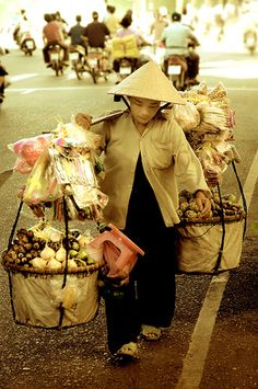 Street vendor in Saigon, Vietnam