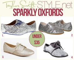 Not Rated 'Over The Top Oxford' - $31.99  Dirty Laundry 'Field Day Oxford' - $33.60  City Classified 'Desta Glitter Lace Up Oxford' - $24.00  Gap 'Glitter Bow Oxfords' - $19.77