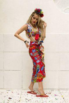 Carmen Miranda Costume, Cuban Party, Just Girl Things, Halloween, Curves, Alice, Tropical, Bohemian, India