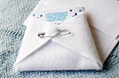 Cloth diaper baby shower invites