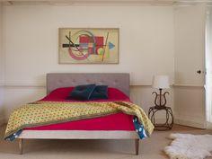Laslo king size upholstered bed in house viscose linen 'Rock' £795  http://www.sofa.com/shop/beds/upholstered-beds/laslo#230-HVLROC-0-0