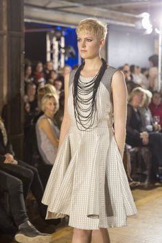 taylor 'Incision' collection - Jacquard Intercept Dress and Filament Neckpiece. Photo by FOUREYES Taylor S, Fashion Show, Fashion Design, Online Boutiques, Audi, Runway, Spring Summer, Clothes For Women, Shopping