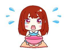 Gifs, Emoticon, Emoji, Hungry Gif, Chibi Couple, Cute Love Gif, Gif Photo, Doraemon, Custom Stickers