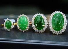 Jade rings. #Petchchompoojewelry